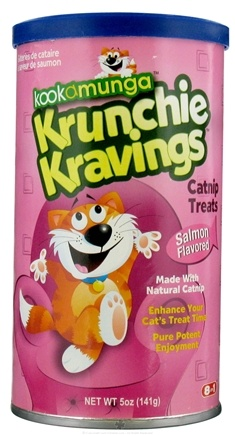DROPPED: Kookamunga - Krunchie Kravings Catnip Treats Salmon Flavored - 5 oz. CLEARANCE PRICED