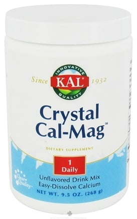 DROPPED: Kal - Crystal Cal-Mag Easy-Dissolve Calcium Drink Mix Unflavored - 9.5 oz.