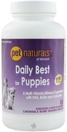 DROPPED: Pet Naturals of Vermont - Daily Best for Puppies - 60 Tablets