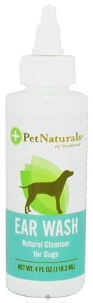 DROPPED: Pet Naturals of Vermont - Ear Wash Natural Cleanser for Dogs - 4 oz. CLEARANCE PRICED