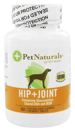 DROPPED: Pet Naturals of Vermont - Hip & Joint For Dogs - 60 Chewable Tablets