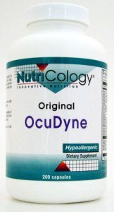 DROPPED: Nutricology - OcuDyne - 200 Capsules SPECIALLY PRICED