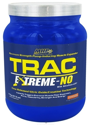DROPPED: MHP - Trac Extreme-NO Maximum Strength Pump-Inducing Muscle Expander Orange - 27.3 oz.