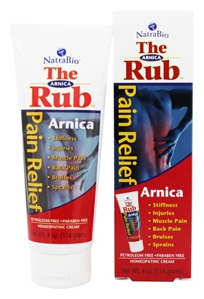 NatraBio - The Arnica Rub Homeopathic Pain Relief Cream - 4 oz.