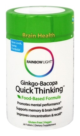 Rainbow Light - Ginkgo-Bacopa Quick Thinking - 60 Tablets