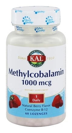 Kal - Methylcobalamin Natural Berry Flavor 1000 mcg. - 60 Lozenges