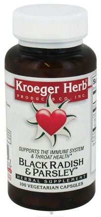 DROPPED: Kroeger Herbs - Herbal Combination Black Radish & Parsley - 100 Capsules CLEARANCE PRICED