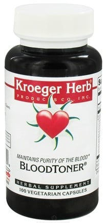 DROPPED: Kroeger Herbs - Herbal Combination Blood Toner - 100 Vegetarian Capsules CLEARANCE PRICED