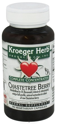 DROPPED: Kroeger Herbs - Complete Concentrate Chastetree Berry - 90 Vegetarian Capsules