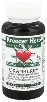 DROPPED: Kroeger Herbs - Complete Concentrate Cranberry - 90 Vegetarian Capsules CLEARANCED PRICED