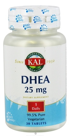 DROPPED: Kal - DHEA 25 mg. - 30 Tablets CLEARANCE PRICED
