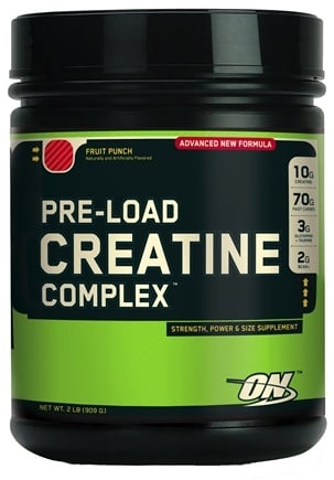 DROPPED: Optimum Nutrition - Pre-Load Creatine Complex Fruit Punch - 2 lbs.