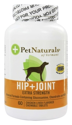 DROPPED: Pet Naturals of Vermont - Hip & Joint For Dogs Extra Strength Chicken Liver Flavored - 60 Chewable Tablets