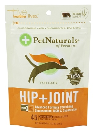 Pet Naturals of Vermont - Hip & Joint for Cats Soft Chews - 45 Chewables