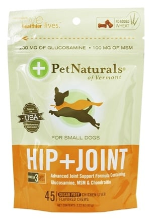 Pet Naturals of Vermont - Hip & Joint for Small Dogs Soft Chews - 45 Chewables