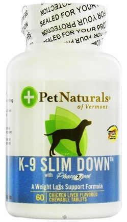 DROPPED: Pet Naturals of Vermont - K-9 Slim Down For Dogs - 60 Chewable Tablets