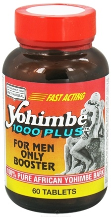 DROPPED: Only Natural - Yohimbe 1000 Plus For Men Only Booster - 60 Tablets