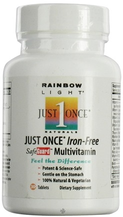 DROPPED: Rainbow Light - Just Once Multivitamin Iron-Free - 30 Tablets