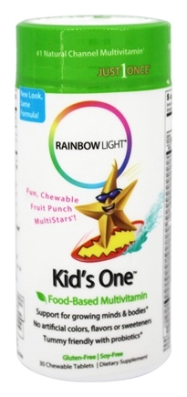 Rainbow Light - Kid's One MultiStars Multivitamin Fruit Punch - 30 Chewable Tablets