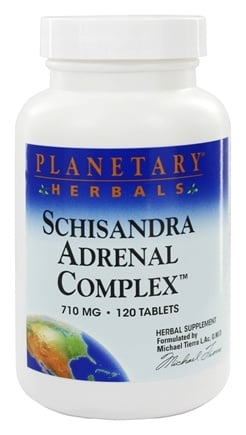 Planetary Herbals - Schisandra Adrenal Complex 710 mg. - 120 Tablets Formerly Planetary Formulas