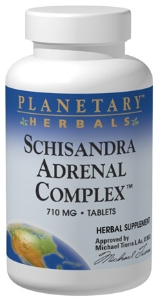 DROPPED: Planetary Herbals - Schizandra Adrenal Complex 710 mg. - 60 Tablets Formerly Planetary Formulas - CLEARANCE PRICED