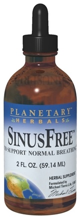 DROPPED: Planetary Herbals - Sinusfree - 4 oz. Formerly Planetary Formulas CLEARANCE PRICED