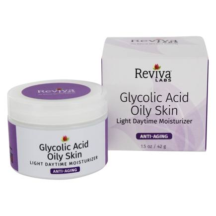 Reviva Labs - Glycolic Acid Oily Skin Daytime Light Cream Moisturizer - 1.5 oz.
