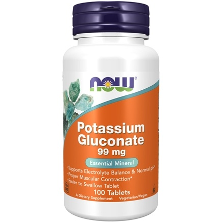 NOW Foods - Potassium Gluconate 99 mg. - 100 Tablets
