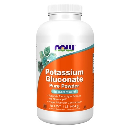 NOW Foods - Potassium Gluconate Powder - 1 lb.