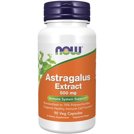 NOW Foods - Astragalus Extract 500 mg. - 90 Vegetarian Capsules