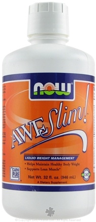DROPPED: NOW Foods - Awe-Slim Liquid Diet Support with L-CarniPure - 32 oz.