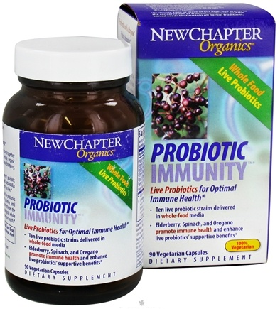 DROPPED: New Chapter - Elderberry - 90 Vegetarian Capsules Organics Probiotic Immunity