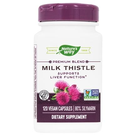 Nature's Way - Milk Thistle Standardized Extract - 120 Vegetarian Capsules