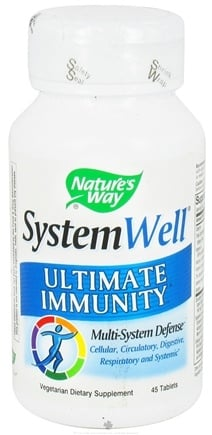 DROPPED: Nature's Way - System Well Immune System- Ultimate Immunity - 45 Tablets CLEARANCE PRICED