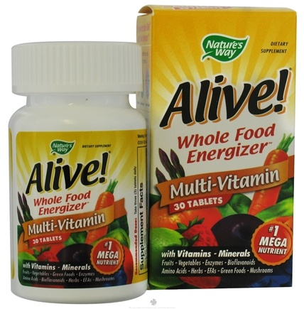 DROPPED: Nature's Way - Alive Multi-Vitamin Whole Food Energizer - 30 Tablets CLEARANCE PRICED