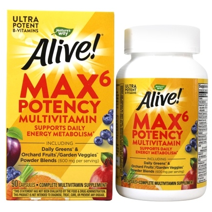 Nature's Way - Alive Multi-Vitamin Whole Food Energizer - 90 Vegetarian Capsules