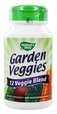 Nature's Way - Garden Veggies - 60 Vegetarian Capsules