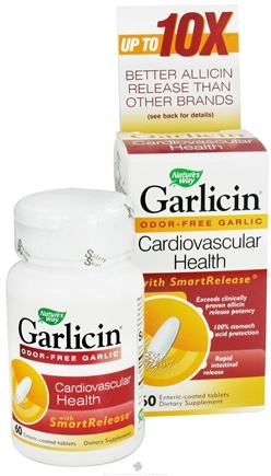DROPPED: Nature's Way - Garlicin - 60 Tablets CLEARANCE PRICED