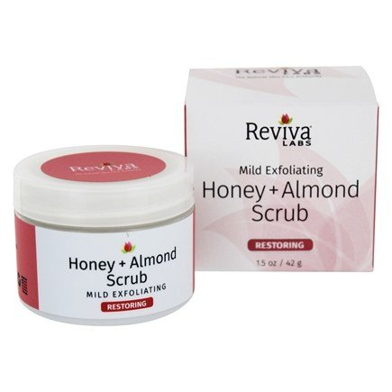 DROPPED: Reviva Labs - Honey & Almond Scrub - 2 oz. CLEARANCE PRICED