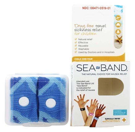 Sea-Band - Acupressure Wrist Bands for Drug Free Travel Sickness Relief for Children - 1 Pair
