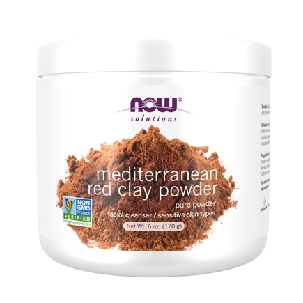 NOW Foods - Moroccan Red Clay - 100% Pure - 6 oz.