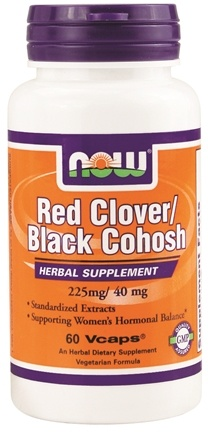 DROPPED: NOW Foods - Red Clover 225 mg Black Cohosh 40 mg - 60 Vegetarian Capsules