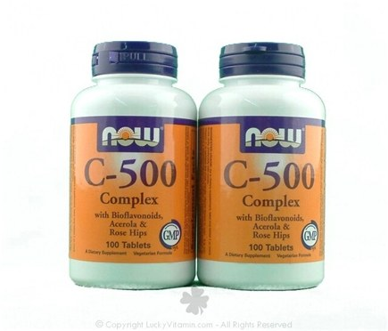DROPPED: NOW Foods - Vitamin C-500 Complex Twin Pack Special - 100 Vegetarian Tablets