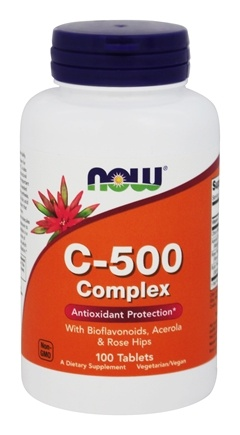 DROPPED: NOW Foods - Vitamin C-500 Complex Vegetarian - 100 Tablets