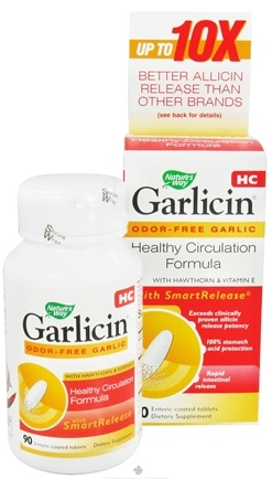 DROPPED: Nature's Way - Garlicin HC - 90 Tablets