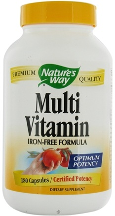 DROPPED: Nature's Way - Multivitamin (iron-free) - 180 Capsules CLEARANCE PRICED