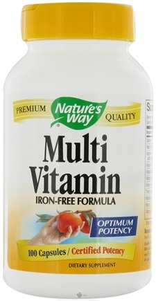 DROPPED: Nature's Way - Multivitamin (iron-free) - 100 Capsules