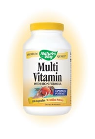 DROPPED: Nature's Way - Multivitamin- with iron formula - 180 Capsules