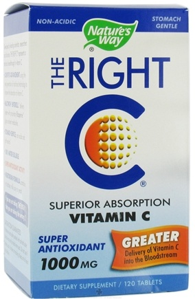 DROPPED: Nature's Way - The Right C Superior Absorption Vitamin C 1000 mg. - 120 Tablets