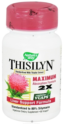 DROPPED: Nature's Way - Thisilyn Standardized Milk Thistle Extract - 60 Vegetarian Capsules CLEARANCED PRICED